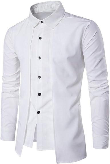 Tops De Manga Larga para Hombres Mens Luxury Informal Camisa ...