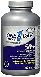 One A Day Mens 50+ Healthy Advantage, 200 Tablets