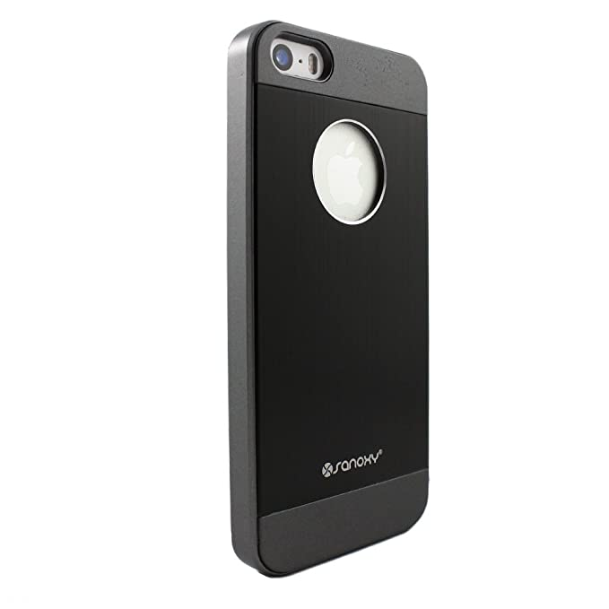 Amazon.com: Sanoxy – Carcasa para iPhone 5/5S, Cepillado ...