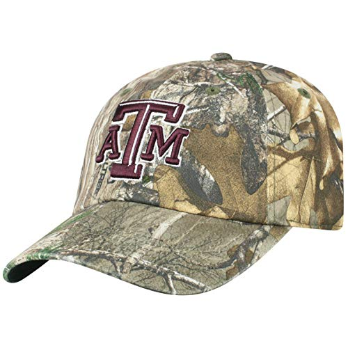 Texas A&m Aggies Sport Hat - Top of the World Texas A&M Aggies Men's Camo Hat Icon, Real Tree Camo, Adjustable