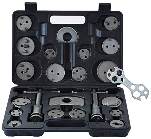 ATP 23pcs Heavy Duty Disc Brake Caliper Tool Set and Wind Back Kit for Brake Pad Replacement Fits Most American, European, Japanese Makes/Models Cadillac Heavy Duty Brake Pad