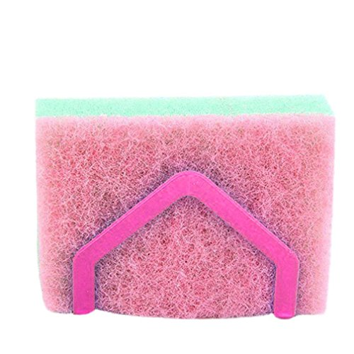 LiPing Desktop Dishcloth Rack Dish Cloths Rack Suction Sponge Holder Clip Rag Storage For Kitchen Supplies Cleaning Utensils (B) (Toothbrush Rag Rug)