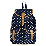 Lychee Bags Women's Blue Canvas Lucy Backpack (LB25BL)