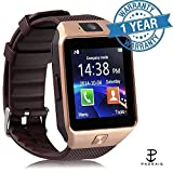 Padraig oppo 4G Compatible Bluetooth DZ09 Smart Watch Wrist Watch Phone with Camera & SIM Card Support Smartwatch  (Brown Strap free)