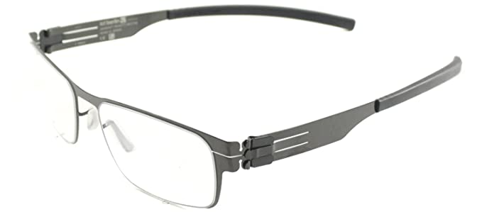 a1d734c6774 Image Unavailable. Image not available for. Color  ic! Berlin Rast Flex  Gunmetal Metal Eyeglasses