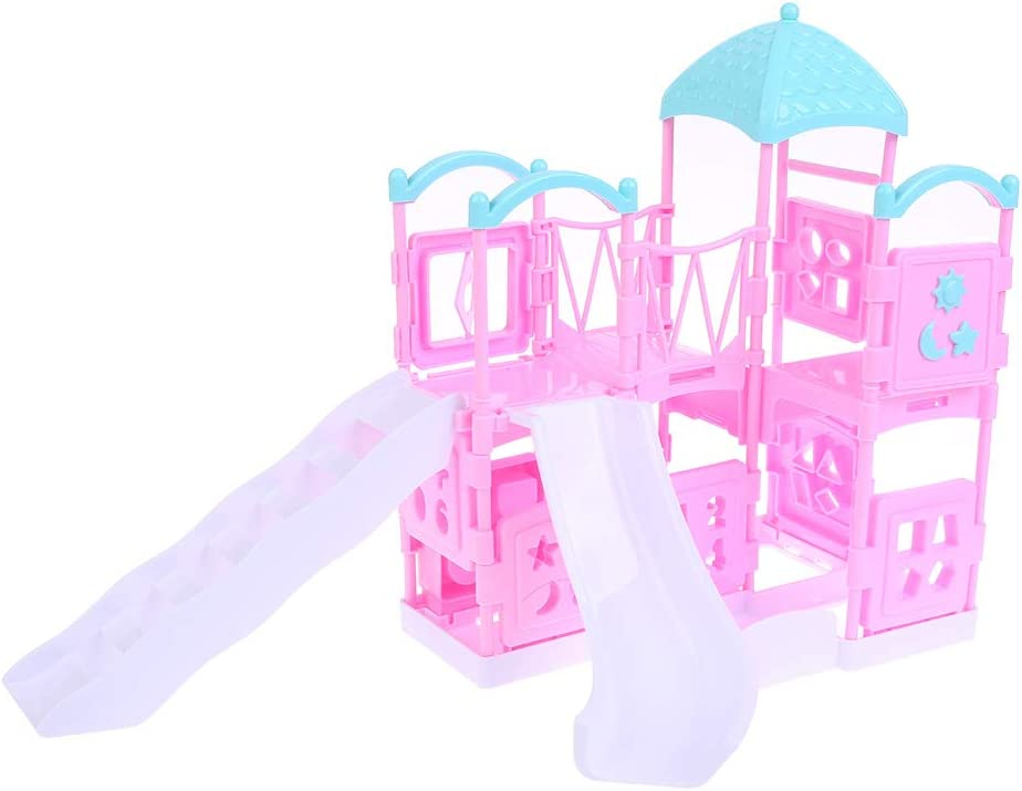 Girl Play Dollhouse Amusement Park For Doll Park Swing Accessories/_NA