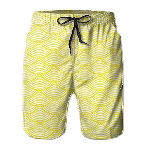 Price comparison product image EMPEROR ARRIVE Boys Board Shorts Drawstring Lightweight Swim Trunks Japanese Wave Mermaid