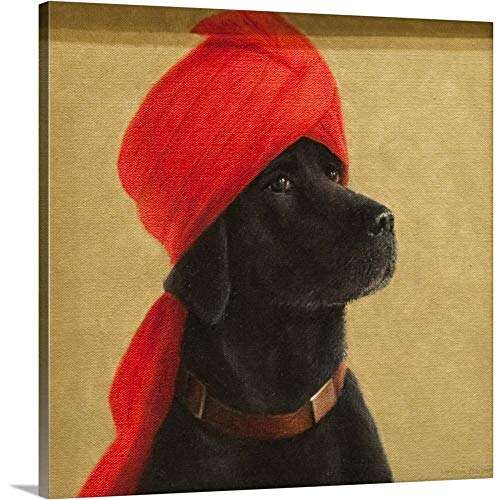 GREATBIGCANVAS Gallery-Wrapped Canvas Entitled Pensive Maharaja, 2010 by Lincoln Seligman 48