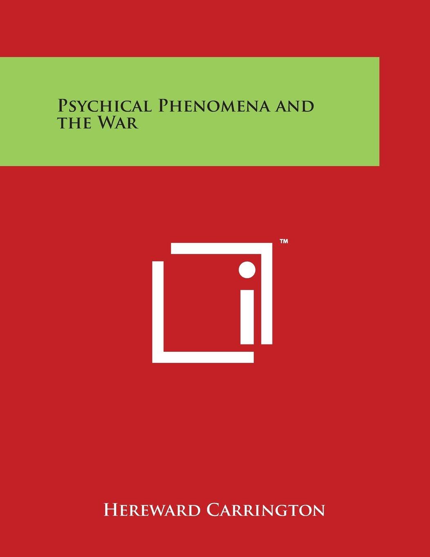 Psychical Phenomena and the War pdf epub