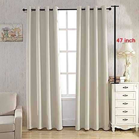 Captivating TIYANA Solid Blackout Curtains Grommet Top Anti Noise Rings Room Darkening  Thermal Insulated Drapes Window