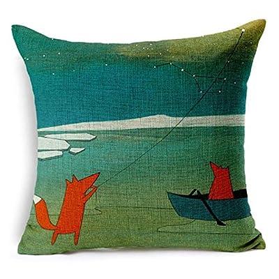 FairyTeller Red Fox Contemplating Decorative Throw Pillow Case Cushion Cover Capa De Almofada 6617
