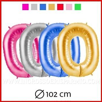 Globo de color efecto metalizado con forma de número - Material tereftalato de polietileno - Súper