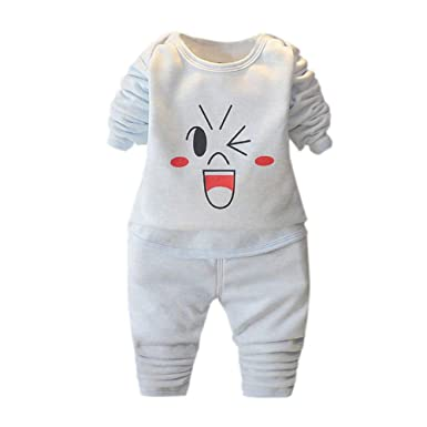 Baby Boy M/ädchen Schlafanzug Baumwolle Pyjama Set 2 St/ück Homewear Lougewear