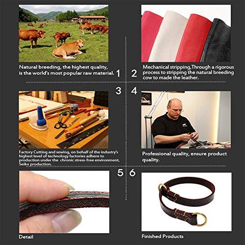 DOILNXH-Durable-Slip-Real-Leather-Dog-Collars-Medium-Large-Dogs-Choke-Training-Collar-for-Labrador-German-Shepherd-Pet-Black-Brown