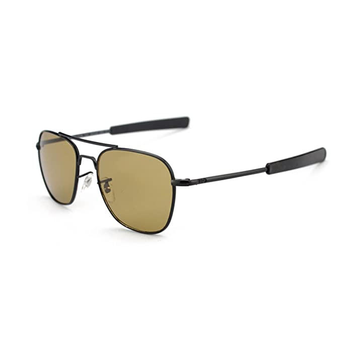 02e8f91f1bc Image Unavailable. Image not available for. Color  US Army Aviator  Sunglasses Polarized Military Pilot Bayonet Temple Classic Retro