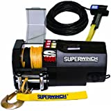 Superwinch 1440200SR S4000, 12 VDC winch, 4,000lb/1814 kg single line pull with roller fairlead, 30' remote, & synthetic rope