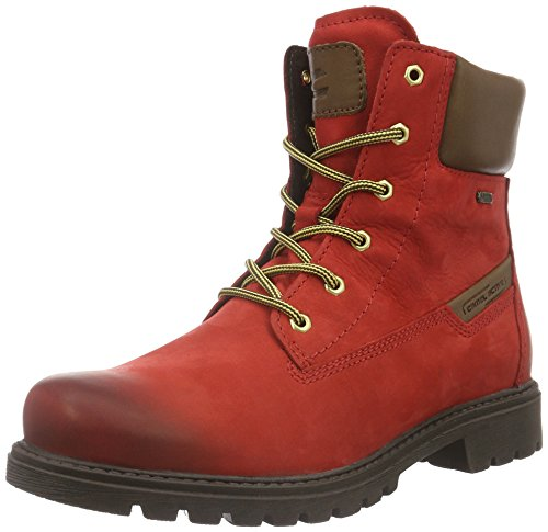 camel active WoMen Outback GTX 72 Ankle Boots Red (Red/Bison 11)