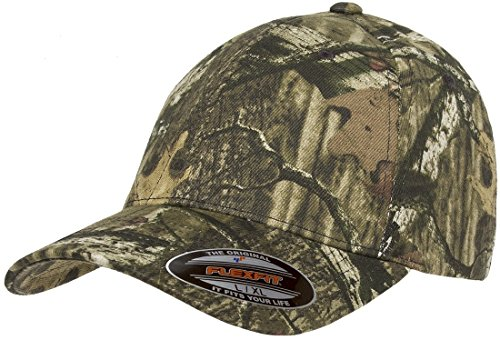 Low Pro Cap - Flexfit Fitted Low Profile Mossy Oak Camo Cotton Hat with Curved Visor – L/XL (Infinity)