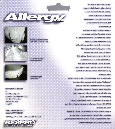 RESPRO allergy model ultralight polyester aero / allergy mask White M by Respro