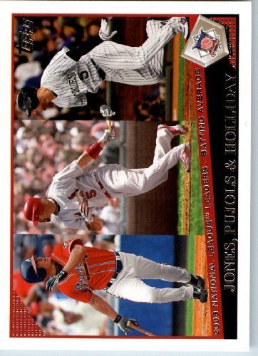 2009 Topps Baseball # 4 Chipper Jones - Albert Pujols - Matt Holliday Atlanta Braves - St. Louis Cardinals - Colorado Rock - MLB Trading Card ()