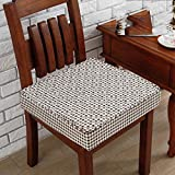 YXDDG Suitable for dinette Washable Indoor Home Chair Cushion, Beautiful, Comfortable, 5 Colors Square Cotton Chair Cushion -Brown 45x45cm(18x18inch)