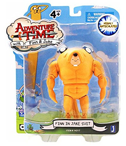 (Adventure Time 5 Inch Action Figure Finn in Jake Suit by Jazwares)