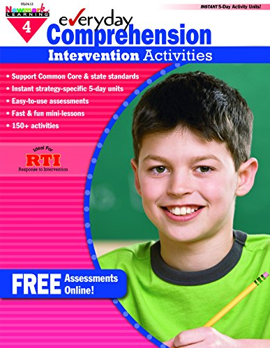- Everyday Intervention Activities for Comprehension Grade 4 (Eia)