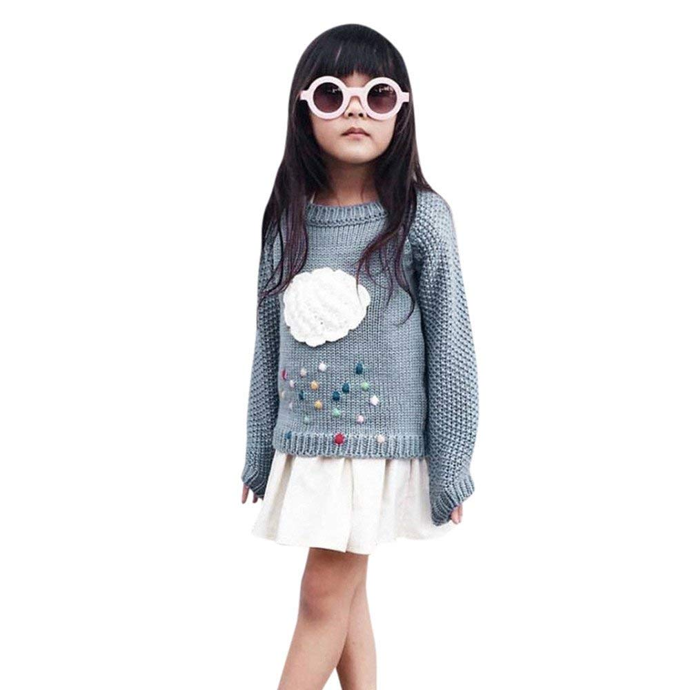 LYLIFE Baby Toddler Girls Kids Cloud Sweater Long Sleeve Knit Pullovers Warm Coat