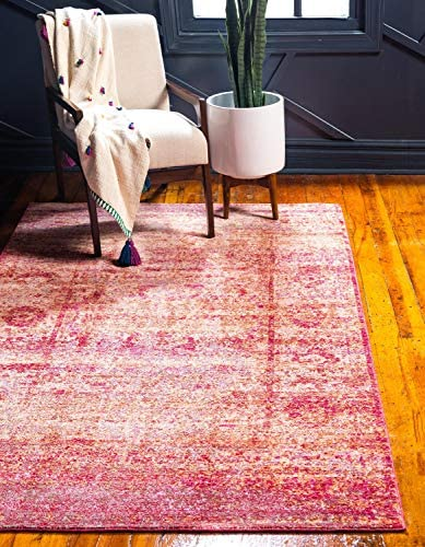 Deal of the week: Unique Loom Austin Collection Casual Vintage Over-Dyed Red Area Rug 9' 0 x 12' 0