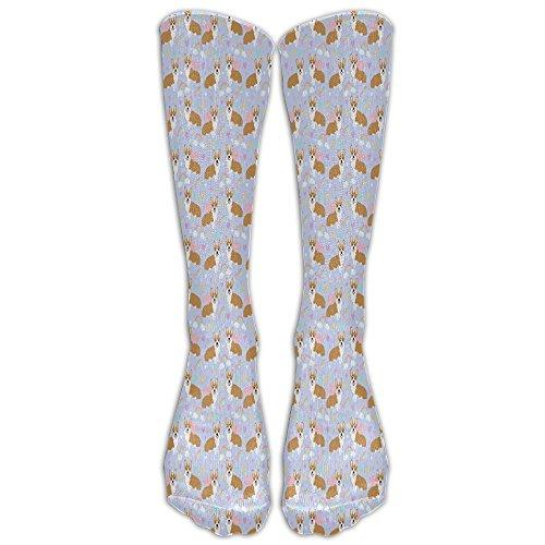 JTCY Corgi Unicorn Women's Men's Athletic Tube Stockings Classics Knee High Socks Sport Long Sock One Size (Ipod Case 4th Corgi Generation)