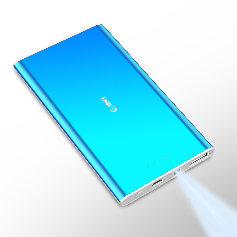 Portable Charger,Emnt Ultra-Thin 5500mAh Slim Power Bank LED Indicator Compact Fast Charging External Battery Pack Pocket Size for Smart Phone,Android,iPhone and More Digital Devices-Blue