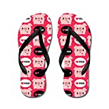 CafePress Kawaii I Love Pigs - Flip Flops, Funny Thong Sandals, Beach Sandals