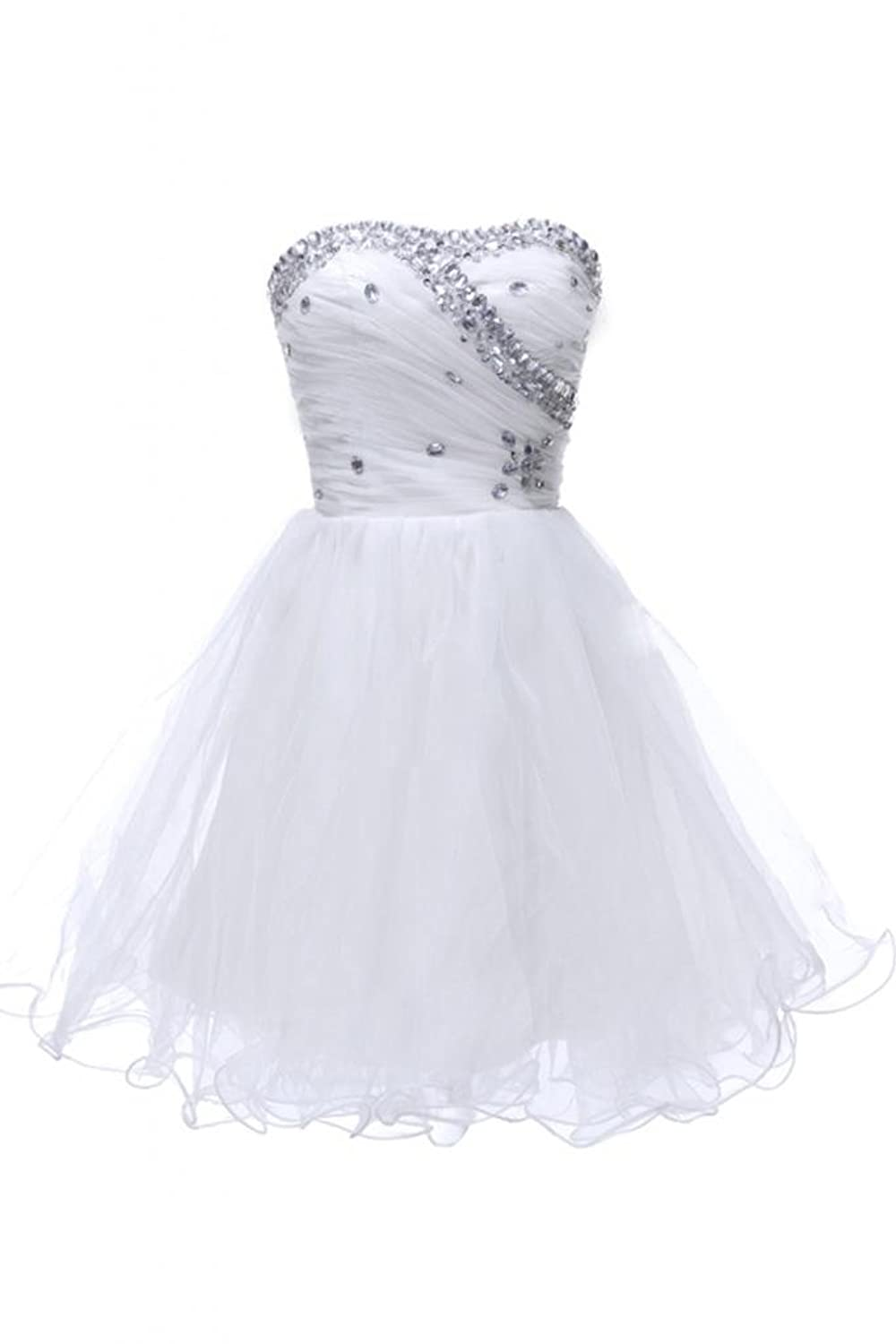 Sunvary Lovely A Line Cocktail Party Dresses Sweetheart Mini Organza Skirts for Women
