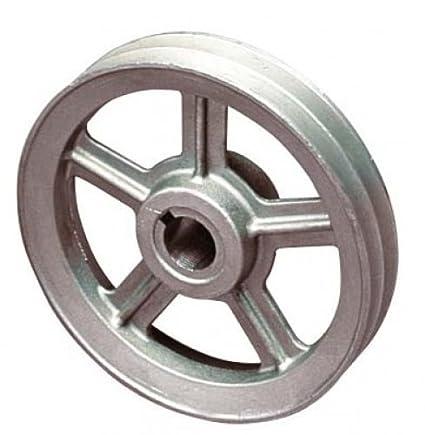 Polea 160 x 24 mm eje para compresor motor