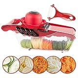 Mandoline Slicer Vegetable Cutter Grater Juilienne Slicer with 5...