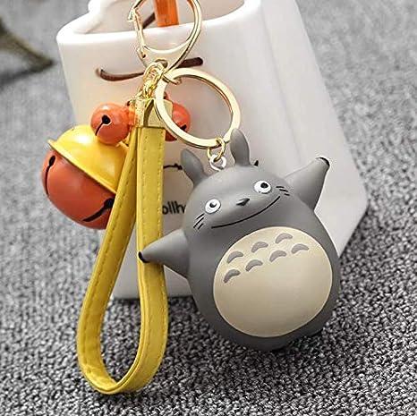 Amazon.com: Llavero de Totoro 3D con campanas, correa de ...