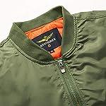 Loeay Casual Cargo Jacket épais et Mince armée Vert Militaire Moto aviateur Pilote Air Hommes Slim Fit Bomber Jacket… 9