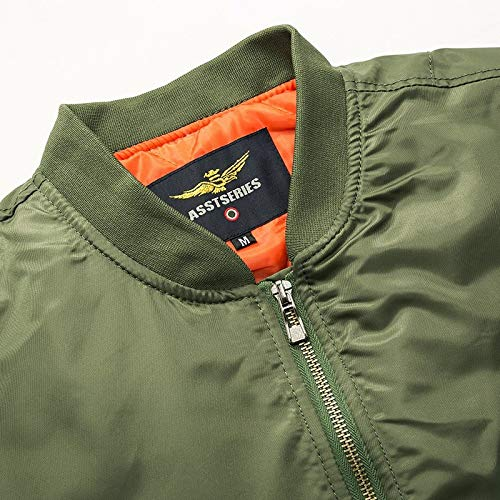 Loeay Casual Cargo Jacket épais et Mince armée Vert Militaire Moto aviateur Pilote Air Hommes Slim Fit Bomber Jacket… 4