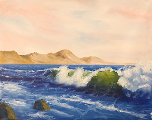 (Oil Painting Ocean Wave 100% Hand Painted On Canvas - Landscape)