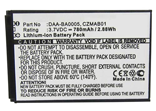 ery Compatible with Creative Zen Micro 5GB Player Battery (Li-Ion, 3.7V, 780 mAh) - Repl. Creative 70PD000000039 Battery ()