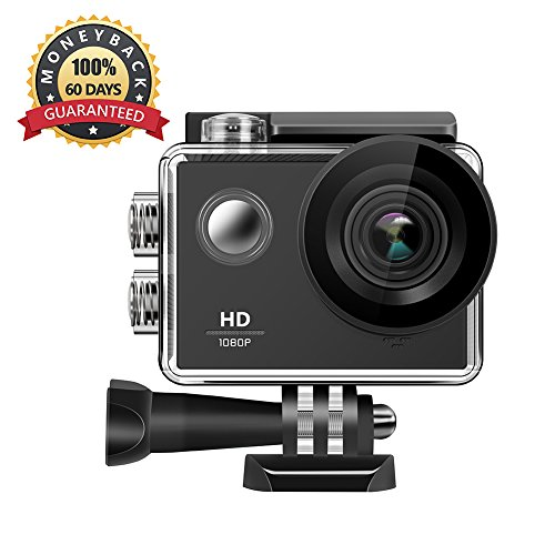 1080P Action Camera, WIFI Sports Action Camera Ultra HD Waterproof DV Camcorder Mini Video Camera with Waterproof Case, Rechargeable Battery for Outdoor Sports by Anmade