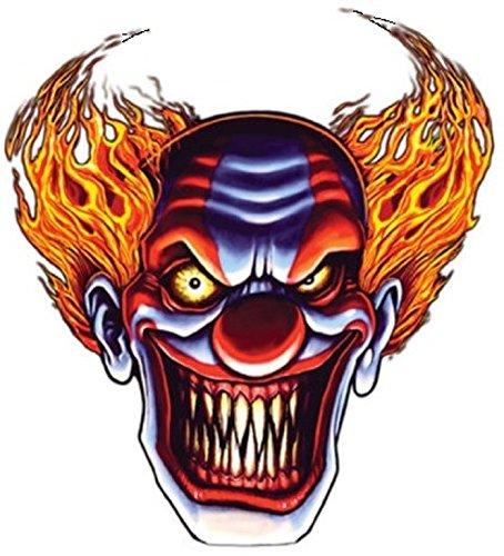 Evil Clown Bumper Sticker Laptop Sticker Hard HAT Sticker Helmet ()