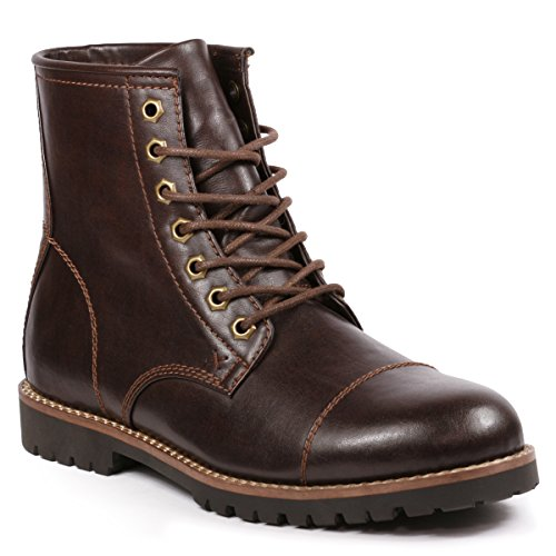 Metrocharm MC301 Men's Lace Up Cap Toe Formal Dress Casual Fashion Boots - stylishcombatboots.com