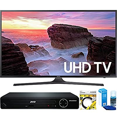 "Samsung (UN40MU6300FXZA) 40"" 4K Ultra HD Smart LED TV (2017 Model) with HDMI 1080p HD DVD Player + 6ft HDMI Cable + Universal Screen Cleaner for LED TVs"