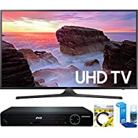 Samsung (UN40MU6300FXZA) 40 4K Ultra HD Smart LED TV (2017 Model) with HDMI 1080p HD DVD Player + 6ft HDMI Cable + Universal Screen Cleaner for LED TVs