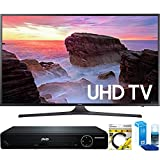 Samsung (UN40MU6300FXZA) 40'' 4K Ultra HD Smart LED TV (2017 Model) with HDMI 1080p HD DVD Player + 6ft HDMI Cable + Universal Screen Cleaner for LED TVs