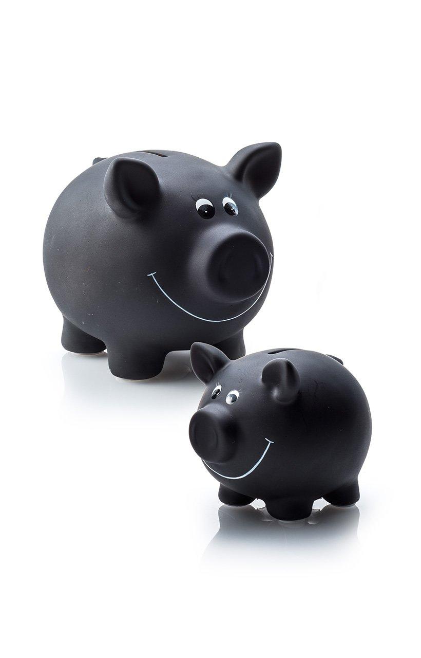 Michel-Toys 60280a Cochon Tirelire C/éramique 1 pi/èce Schwarz