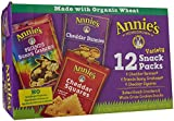 Annie's Snack Pack Variety Cheddar Bunnies/Friends Bunny Grahams/Cheddar Squares Crackers 12 ct 11 oz