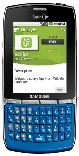Samsung Replenish Android Phone, Blue (Sprint)