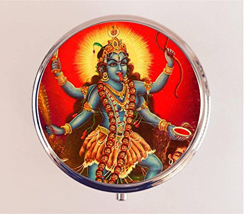 Kali Pillbox Case Holder Trinket Box Hindu Goddess Hinduism New Age Spirituality Mysticism